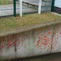 03-Graffitientfernung-in-Rostock-Garagentor-Fassade-reinigen-Farbe-einlesen