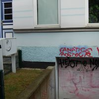 02-Graffitientfernung-in-Rostock-Garagentor-Fassade-reinigen-Farbe-einlesen